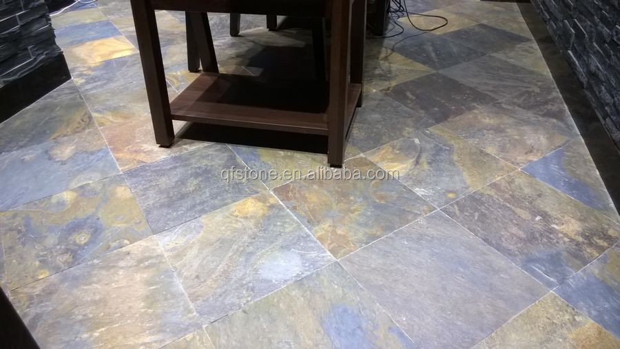 Cheap Natural Rusty Landscaping Stone Floor Slate Slabs