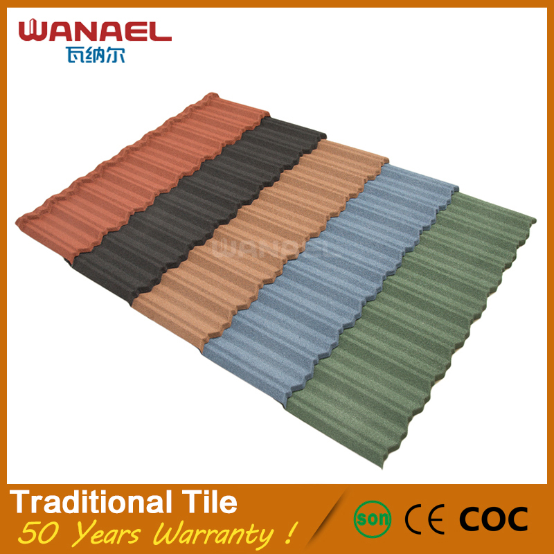 Wanael stone chip coated roof lightweight and high quality roofing tile sandwich panels installation