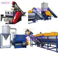 PE PP plastic film bag washing line plastic recycling machine with centrifuge dewatering or squeezer
