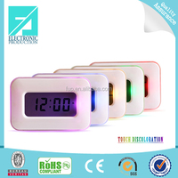 Fupu Best selling factory supply color touch night light clock touch screen alarm clock for sale