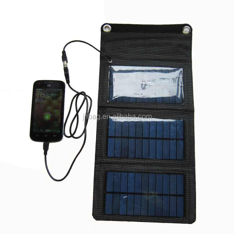 Portable 5W Solar Panel Charger Bag,Foldable solar charger bag