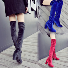 L3062A Sexy over the knee high heel women snow boots women's fashion winter thigh high boots shoes woman