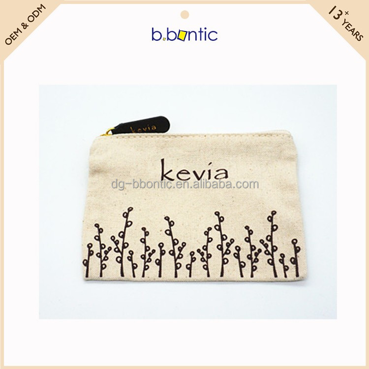 jewelry canvas fabric zipper pouch