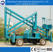 Articulated genie boom lift trailer mounted cherry picker man lift