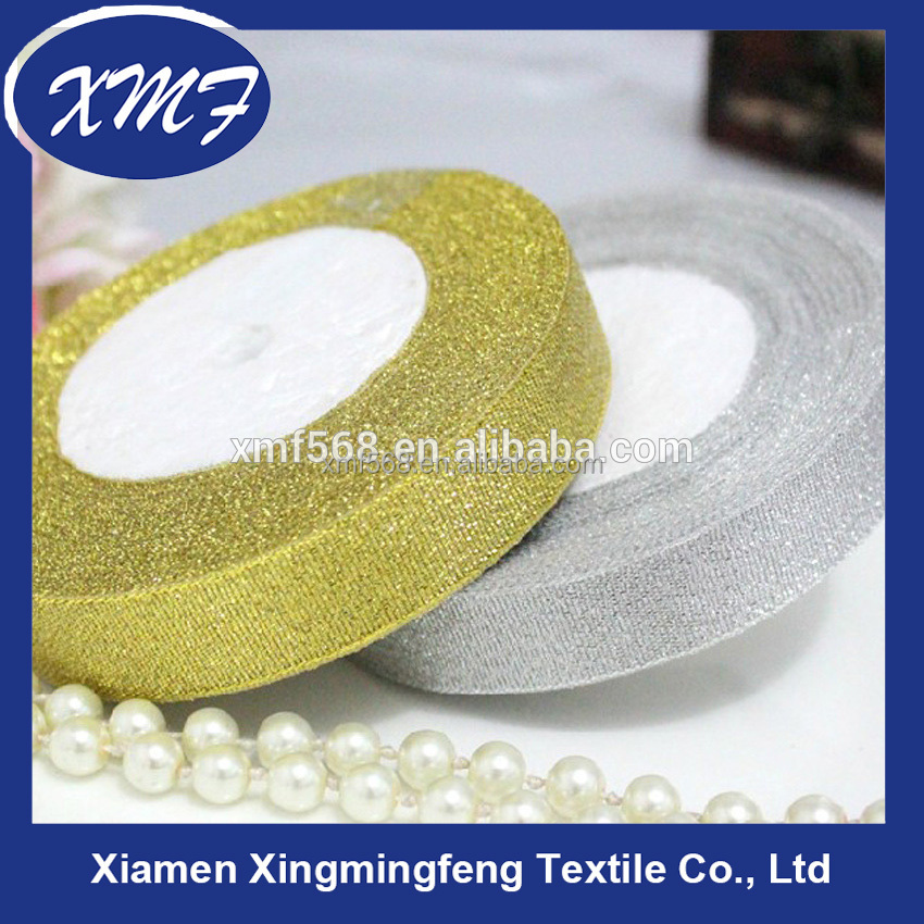 Shiny material color ribbon