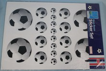 Boy Room Wall Stickers Set Footballs
