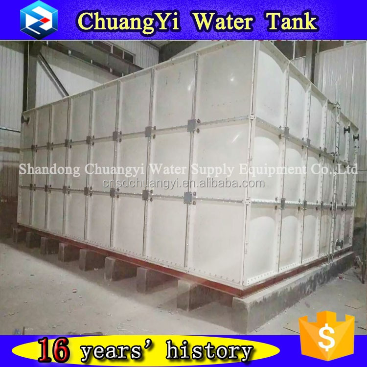 2017 High Quality Customized Fiberglass Water Tank /GRP Tank Sectional Panel Bolted Type Food Grade 16 Years History