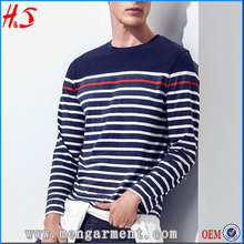 Best Shirt Design Picture New Style Mens Long Sleeve Striped T Shirt