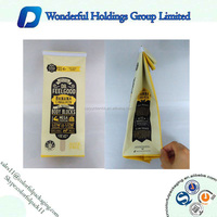 250g 500g 1KG moisture proof plastic foil bag coffee bean packaging bags with valve / tin tie