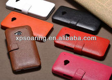 Genuine wallet leather case for HTC one M7