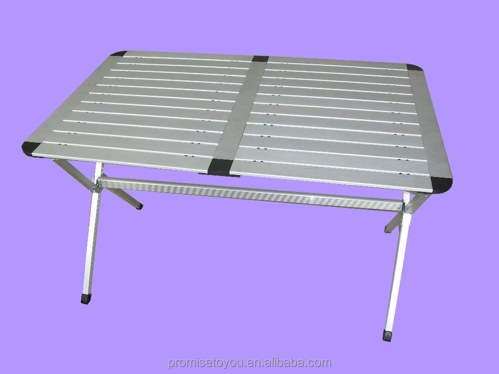 Roll Up Top Aluminum Camp Portable Camping Picnic Table