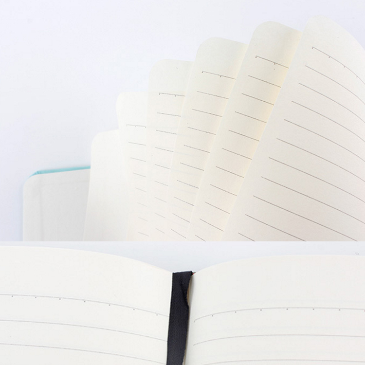Custom A5 Thick Hard Cover Plain Journal Linen Notebook With Elastic Band