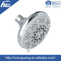 Chrome plated water saving r , 5 functions rotating shower head