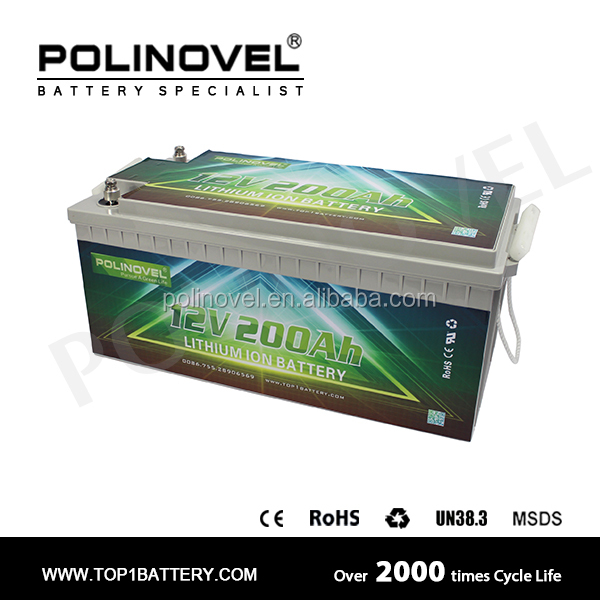 lifepo4 battery / 12v 200ah deep cycle lifepo4 battery pack for boat yacht / lithium battery 12v