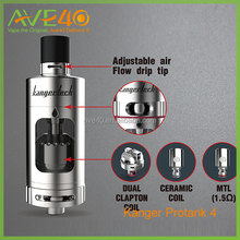 Top and side filling design ssocc coil kanger Protank 4 atomizer with adjustable airflow drip tip