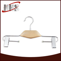 High Quality Wooden Pant Hanger With Metal Clips