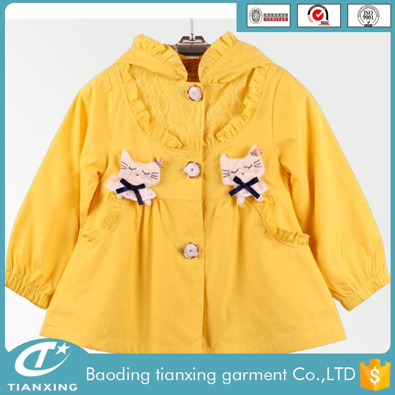 2016 New Design autumn girls fall coats
