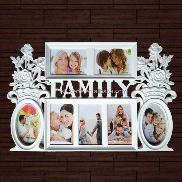 Art decor handmade irregular white picture frame photo frame