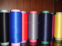 150D100%PES/PP Twist Benang dty Knitting Yarn For Hanging/Underware