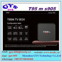 2016 new design cheap android tv box T95M s905 pro tv box quad core made in China shenzhen