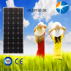 Solar panels 150w monocrystalline with juction box, MC4 connectors for solar module system