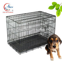 Aier collapse dog crates metal wire dog cage