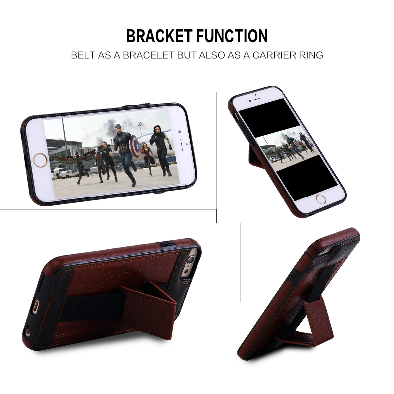 High quality leather 7 colors card holder wallet cell phone case for iPhone 8 8plus
