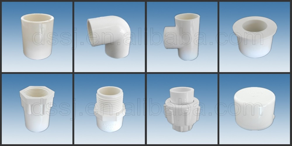 Pvc pipe fitting threaded end cap cupc nsf astm abs 11 2 for Plastic plumbing pipe types