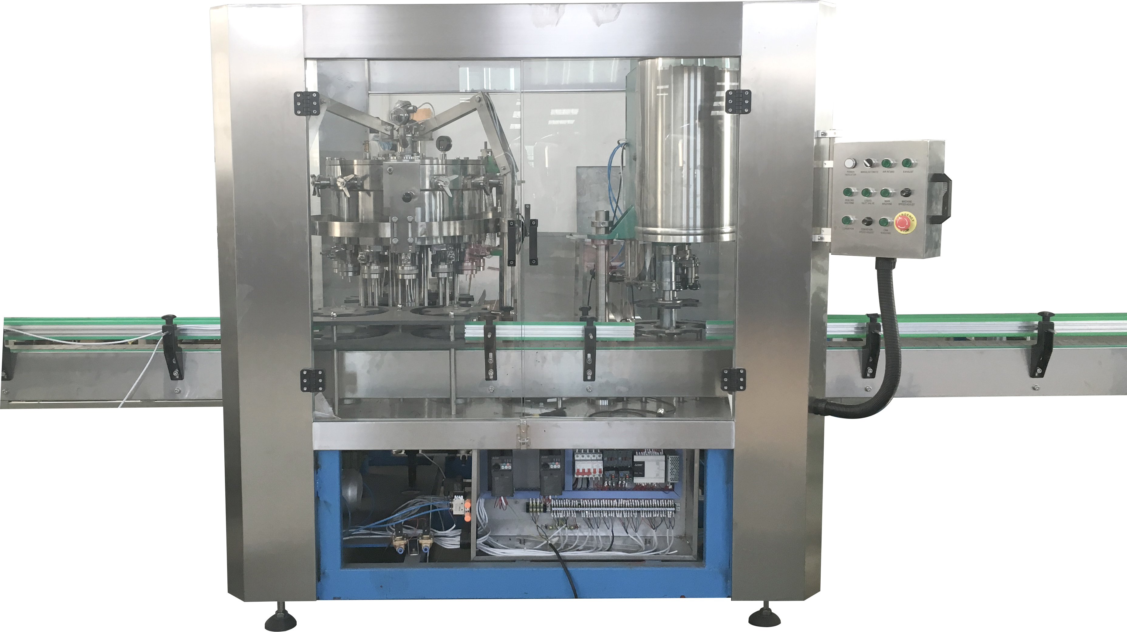 Automatic Craft Beer Aluminum Can Filling Sealing Machine / Beer Canning Machine Line