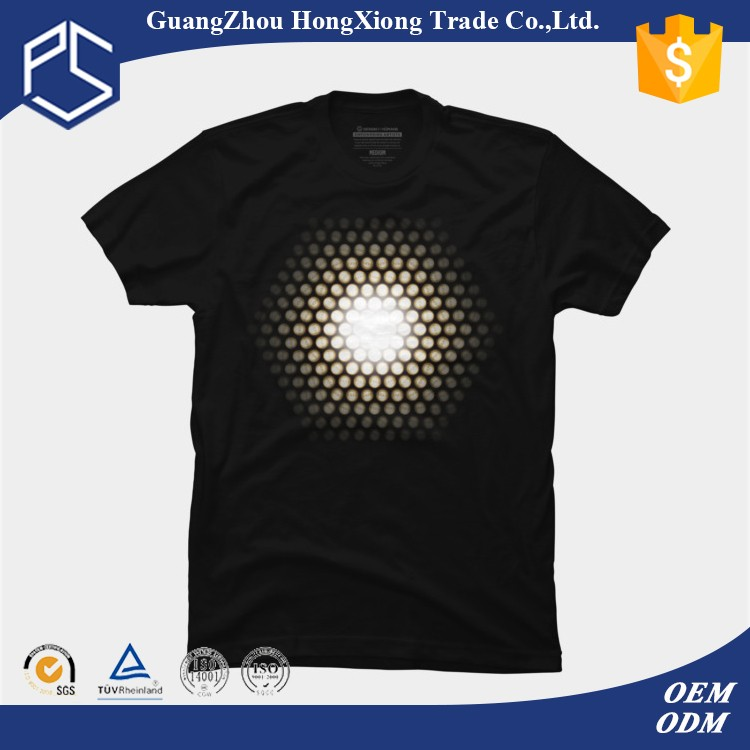 Design your own led glow in dark t shirt
