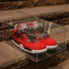 Luxury clear acrylic sneaker box Display Shoes case 100% 360 Degree View MEDIUM
