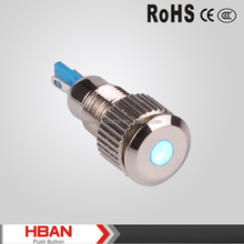 CCC CE ROHS 8mm IP67 metal LED indicator light,pilot signal lamp,light led lamp