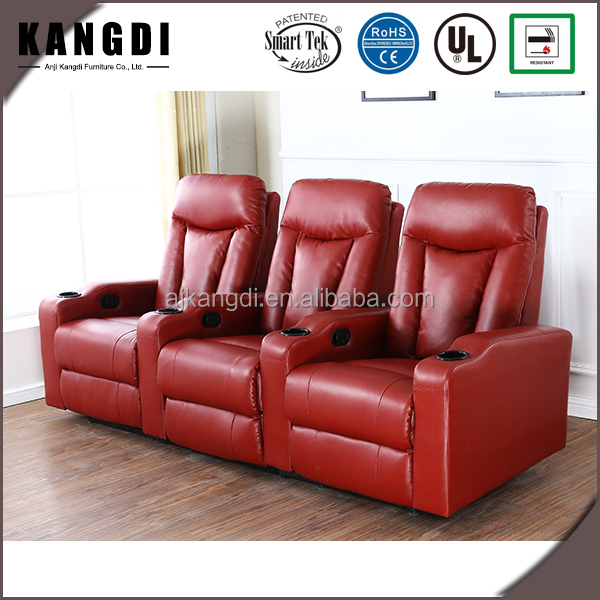 KTH7063 Wholesale home leather cinema chair love seat recliner sofa