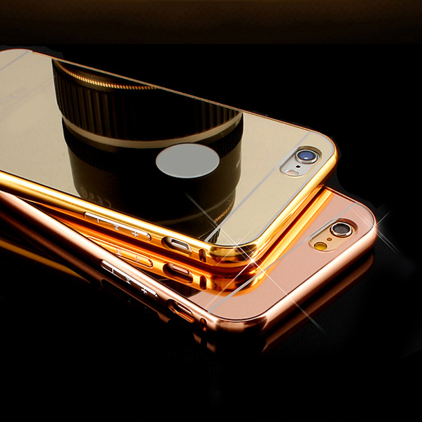 For iPhone 7 , Mirror Case Aluminum PC + metal bumper Material mirror case for iphone 7/7s plus