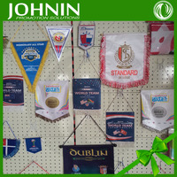 Custom different national football pennant decorative hanging flag