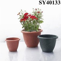 Round Mini Plastic Clay Flower Pots