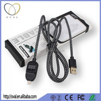 Over-voltage/Over-current/Voltage Testing/Protect Micro USB Data Cable with LCD Current Display 2015 New