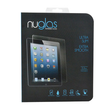 Nuglas New products 2015 0.3mm 2.5d 9h tempered glass screen protector for ipad mini 4