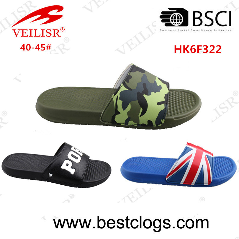 2018 SS Hot collection custom logo upper men's slide sandal
