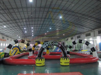 Durable PVC inflatable race track, inflatable air track, inflatable go karts race track for fun