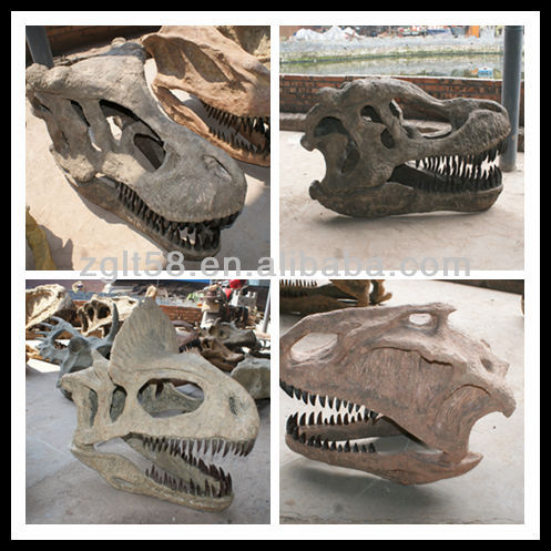 Outdoor attractive dinosaur fossil for sale