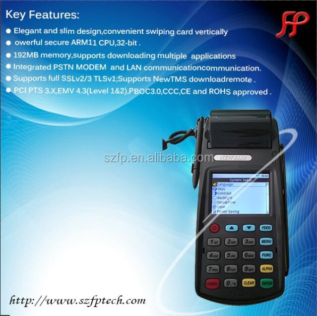 GPRS handheld bill payment POS with thermal printer 58mm billing machine for hotels