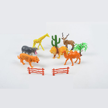 6 Pcs Emulation Zoo Animals Plastic Toy Animals for Children