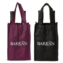 Promotional wine bottle travel bag water bottle pocket tote bag