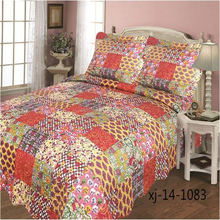 Hot Selling different styles water wash quilt cover cotton bedding set