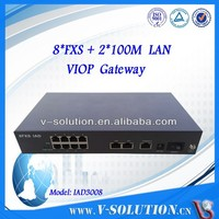 Rj45 to rj11 8 fxs ports gateway ata voip adapter wireless