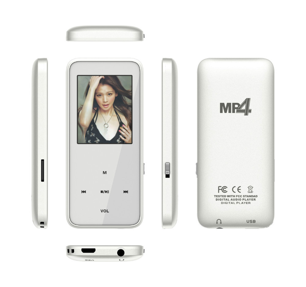 1.8 Inch Display Slim Free MP4 Player Game Download With FM Radio