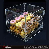 Customized durable acrylic cake box display stand