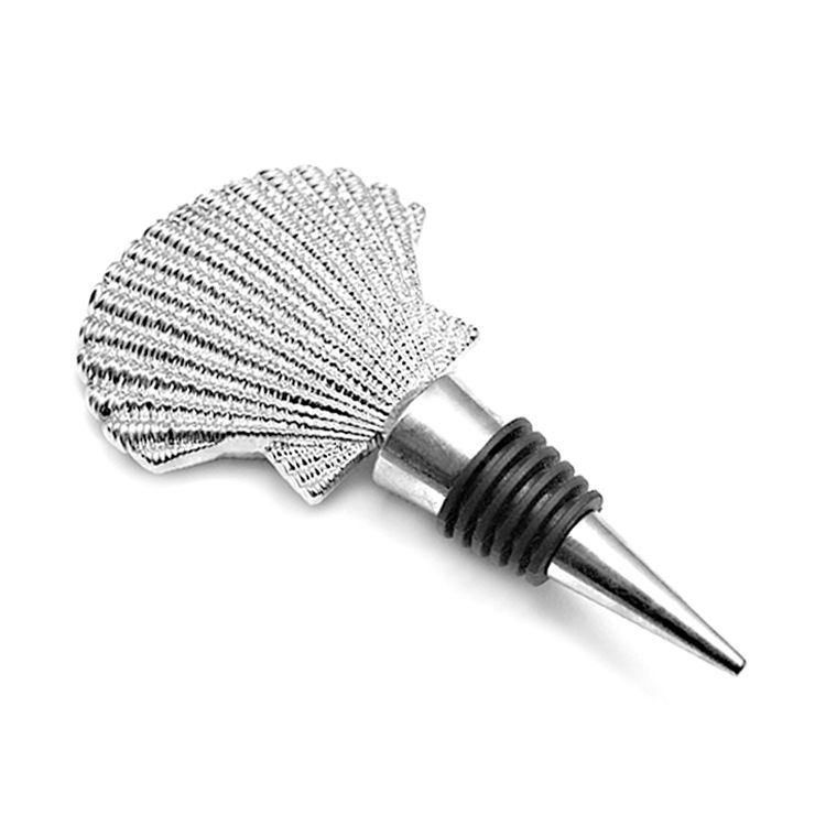 Wedding souvenirs guests zinc alloy metallic plain wine stopper handmade promotional christmas tree shape wine stoppers