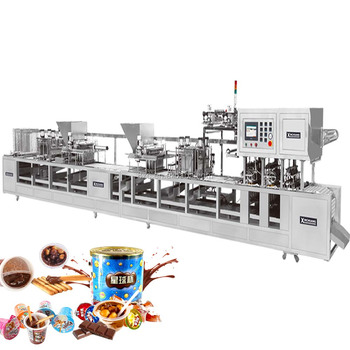 CFD-50 2 color chocolate cup filling sealing machine